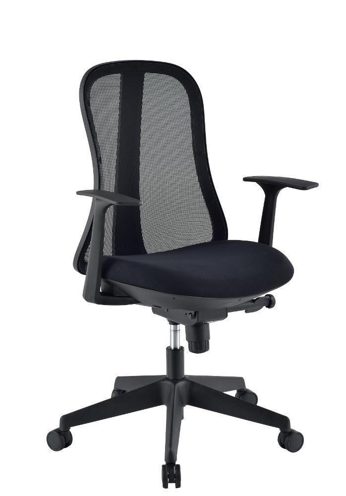 Sedia per Ufficio con Schienale Ergonomico Nero
