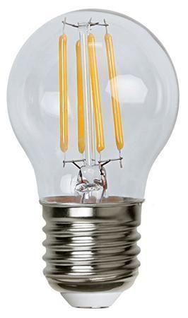 Lampada LED Globo E27 Bianco Caldo 3.2W Filamen...