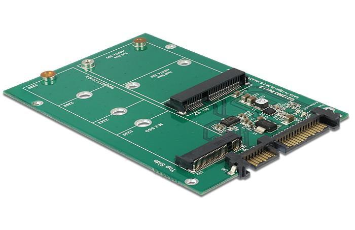 Scheda Convertitore da SATA 22 pin a 1 M.2 NGFF...
