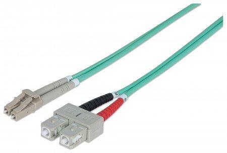 Aqua - LC a LC 50//125 Cavo in fibra ottica duplex multimodale OM3 da 75 metri
