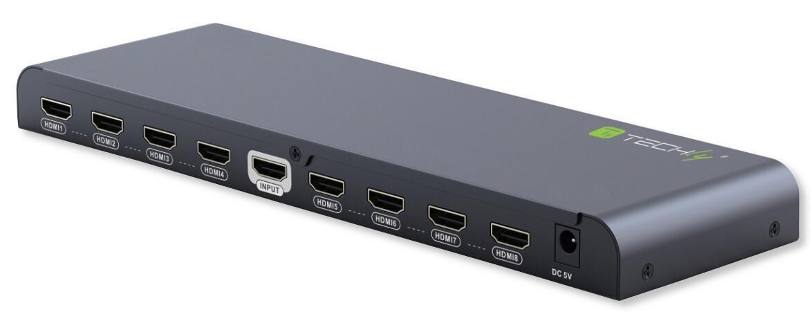 Splitter HDMI2.0 4K UHD 3D 8 vie