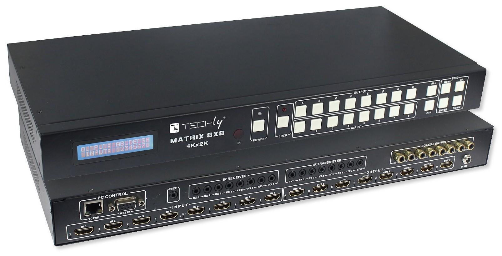 Switch Matrix HDMI 8x8 4K 3D con Telecomando e ...