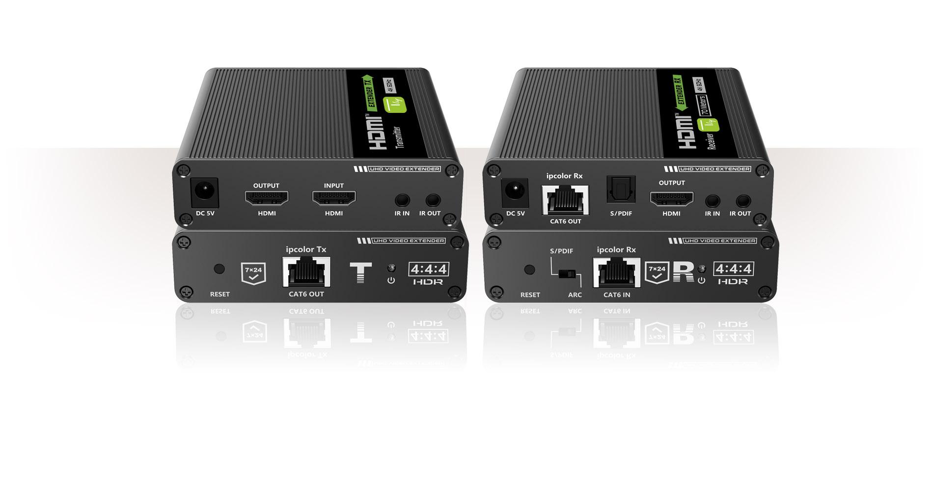 Amplificatore Extender HDMI 4K fino a 70m su Cavo Cat.6/6A/7 punto-punto