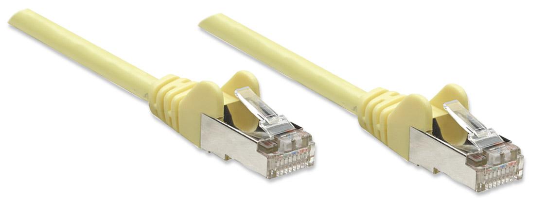 Cavo di rete Patch in Rame Schermato Cat. 5e Giallo FTP 2 mt