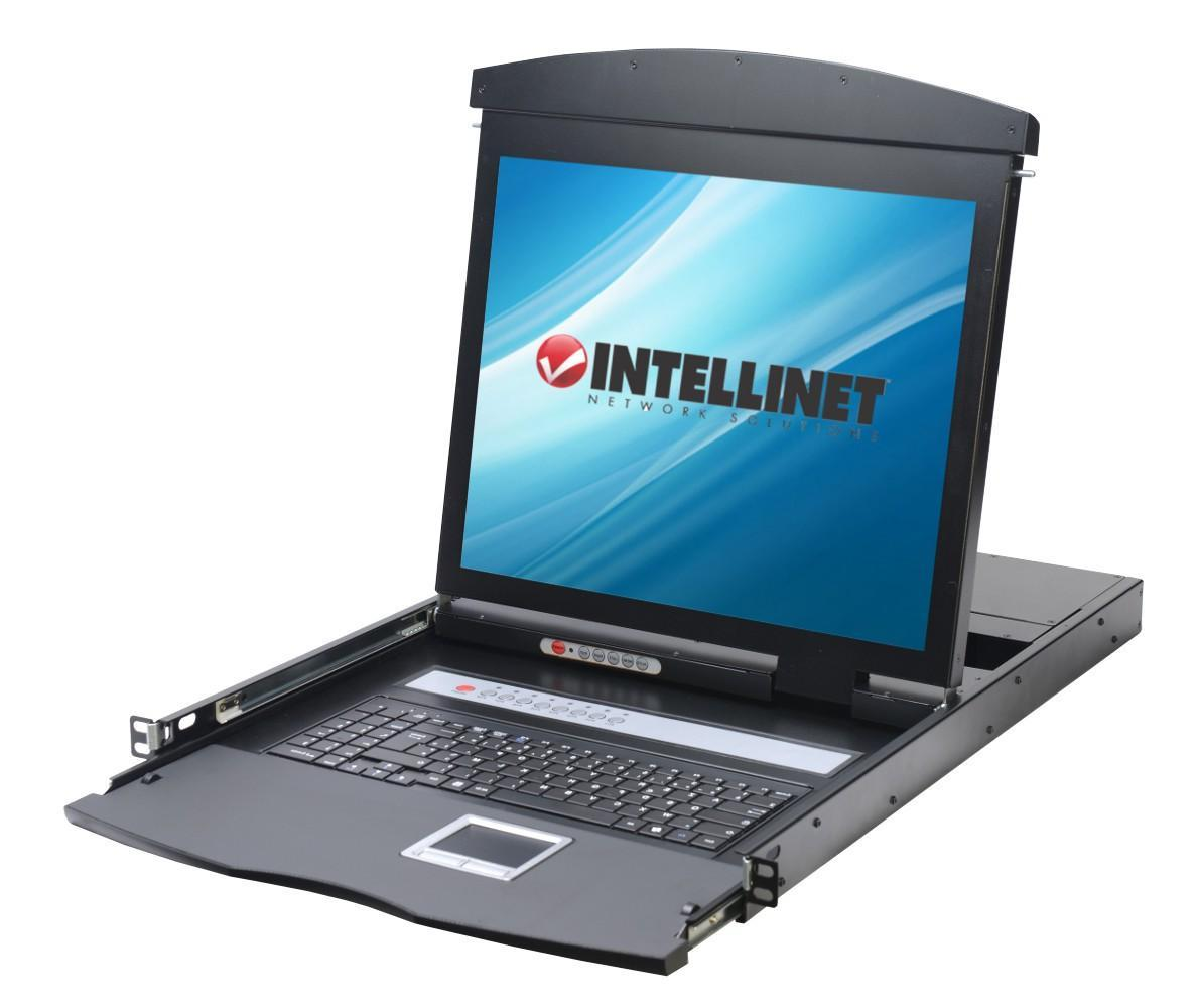 Console KVM Switch 8 Porte USB/PS2 con LCD 17''...