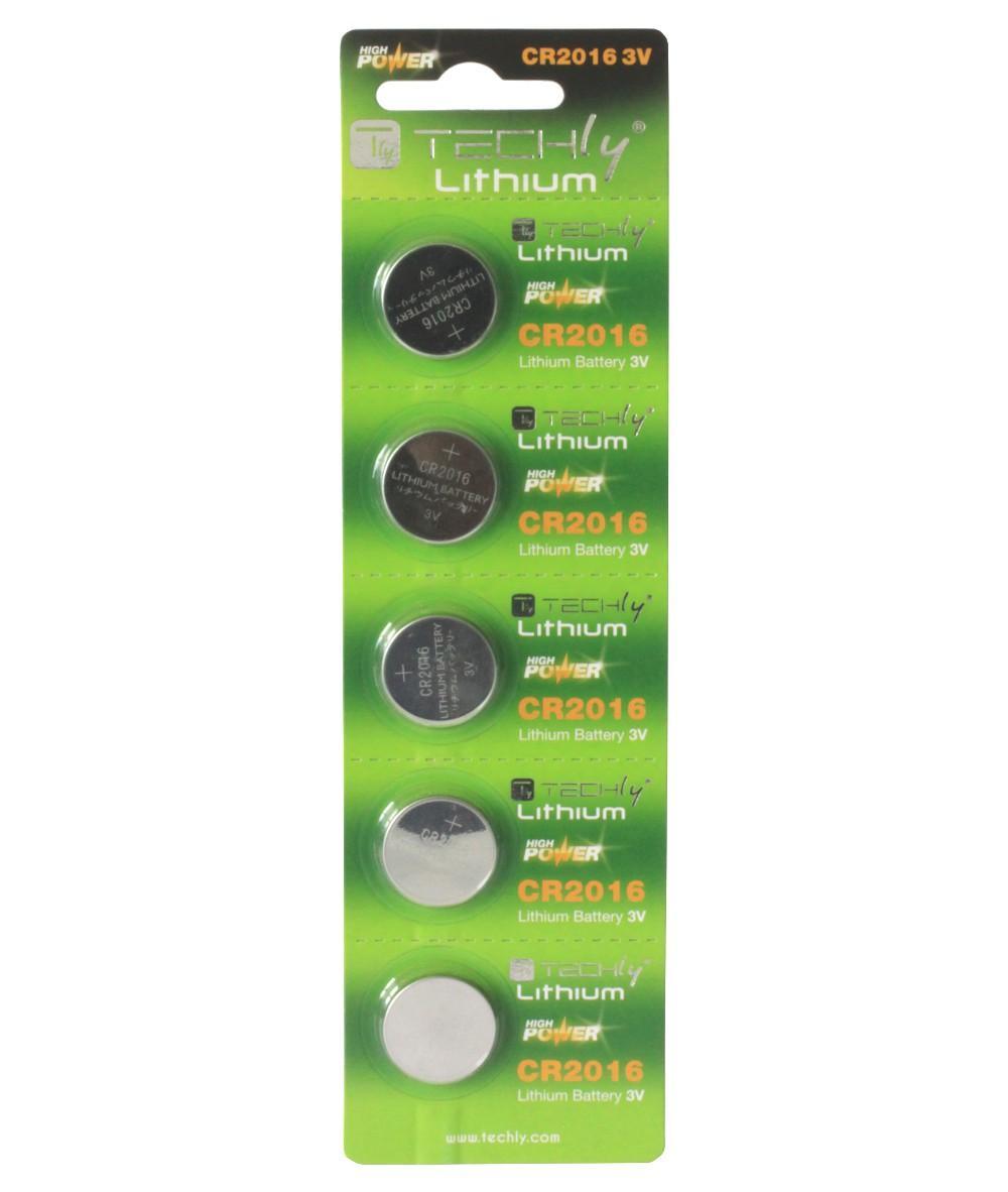 Batterie a Bottone Litio CR2016 (set 5 pz)