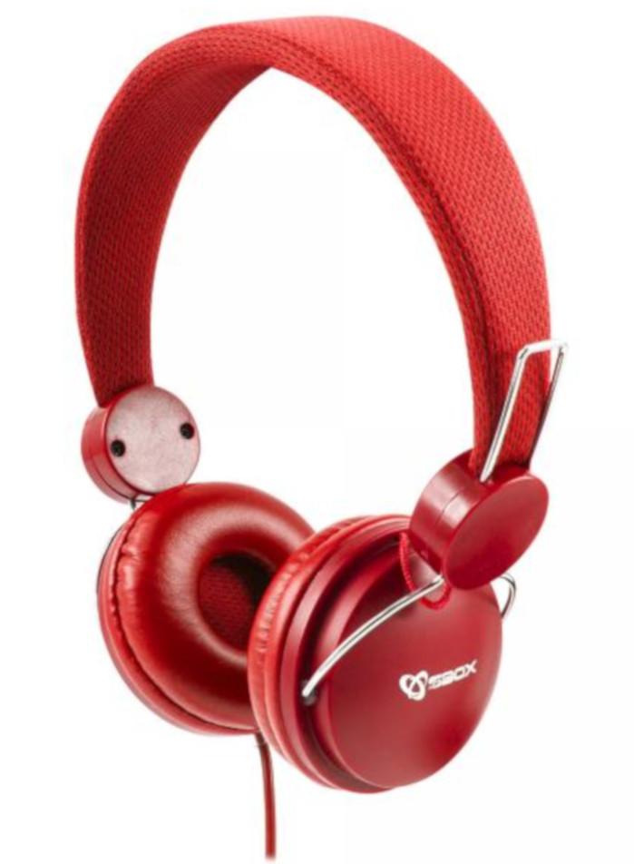 Cuffia multimediale HS-736 rossa