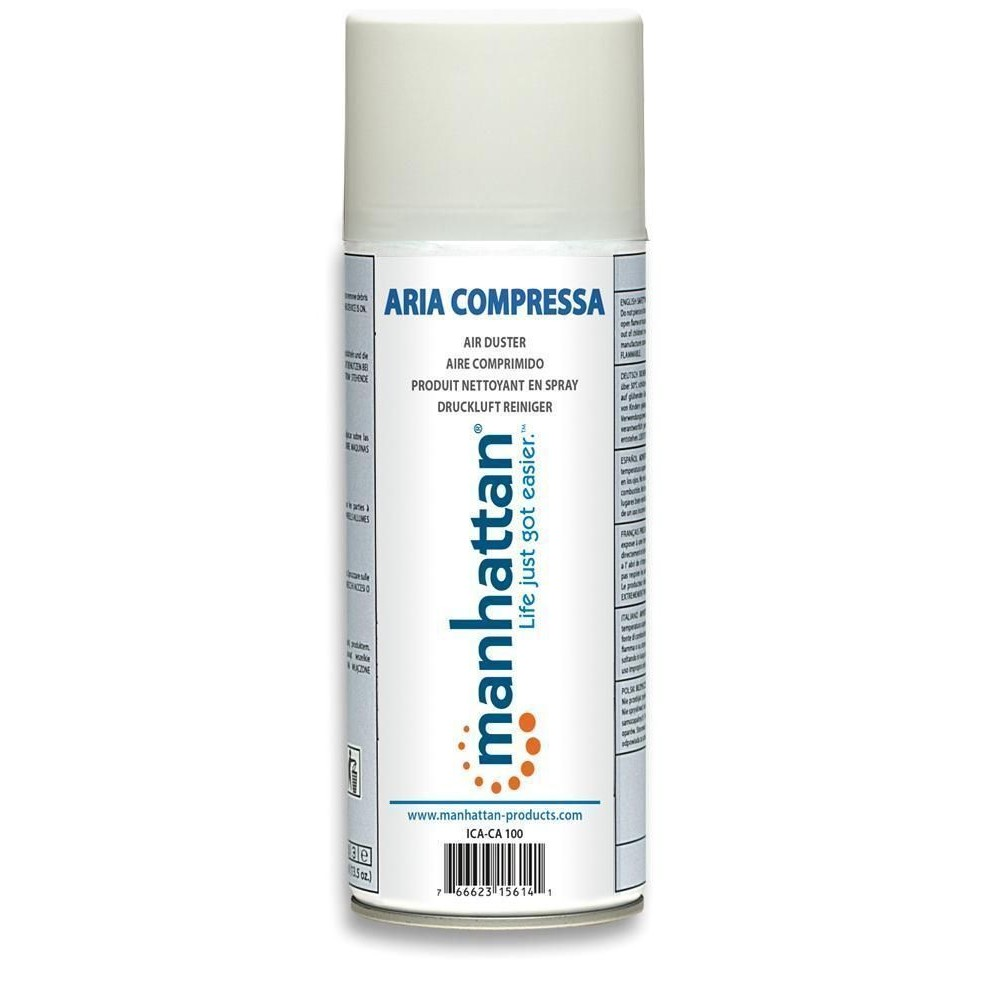 Bomboletta Spray Aria Compressa per Pulizia 400ml - Manhattan - ICA-CA 100-1
