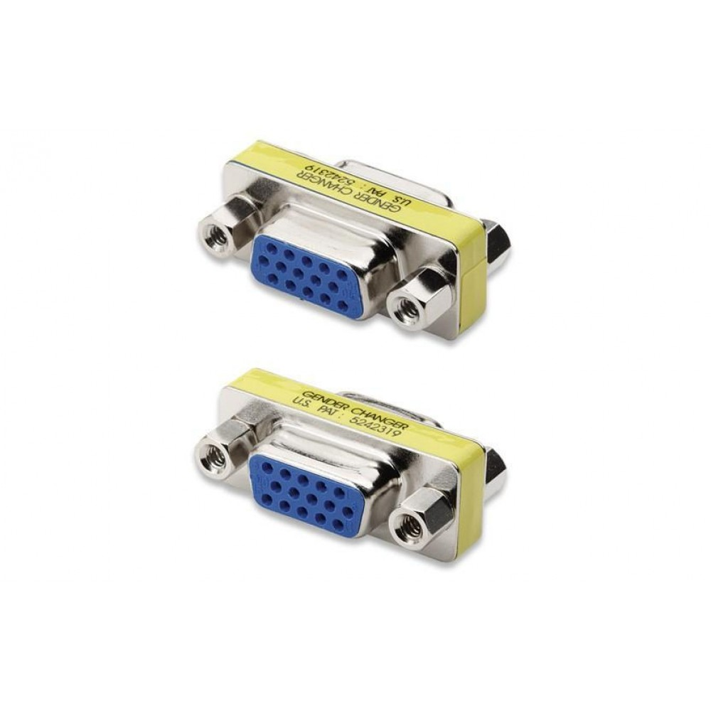 Mini Gender Changer VGA DB 15 poli HD F/F - Manhattan - IADAP 735-15HD-1