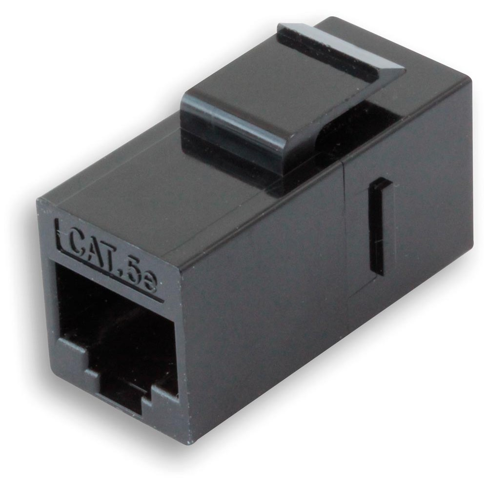 Accoppiatore RJ45 F/F UTP Cat5e Keystone Nero - Intellinet - IWP-MD C5E/TRUE