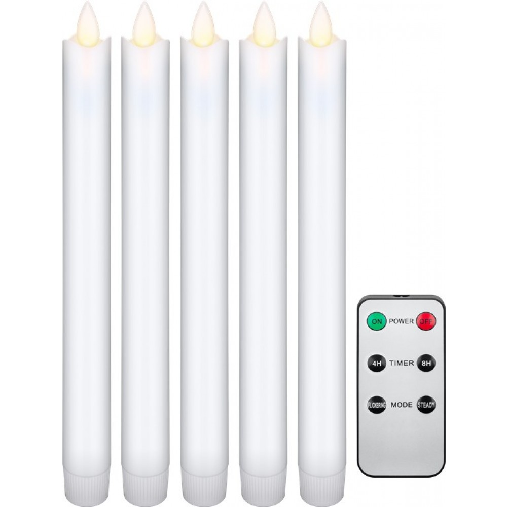 Set 5 Candele LED in Cera con Telecomando - Goobay - I-LAMP-CANDLE5REM-1