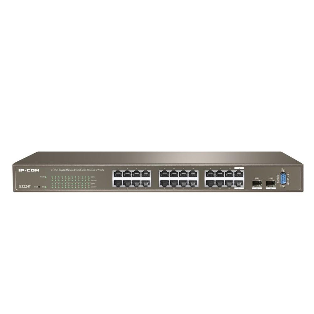 Switch Ethernet Gigabit  24 Porte+2 porte SFP Layer 2 Web Smart  - IP-COM - ICIP-G3224T-1
