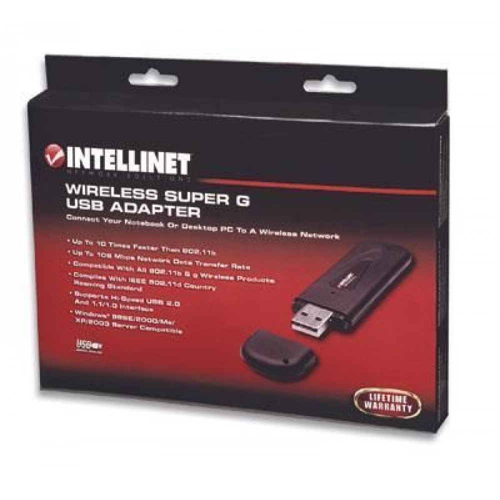 USB Wireless card WiFi 108 Mbps - Intellinet - I-WL-USB-108-1