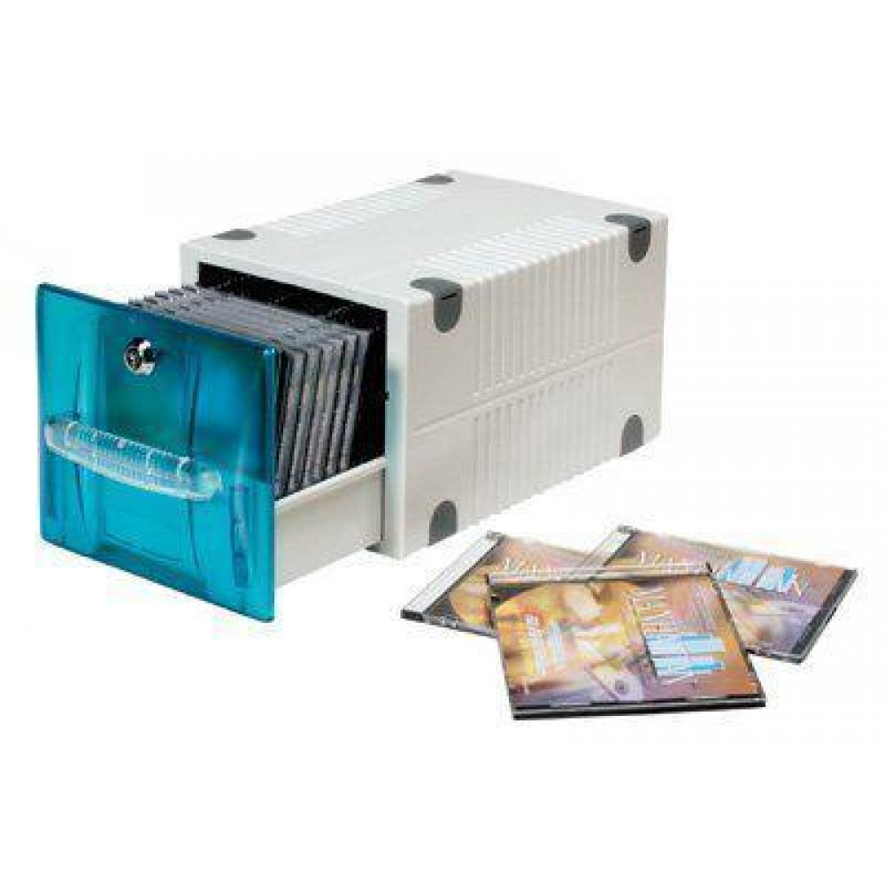 Cassetto porta CD blue traslucente - Oem - ICA-CD 250B-1