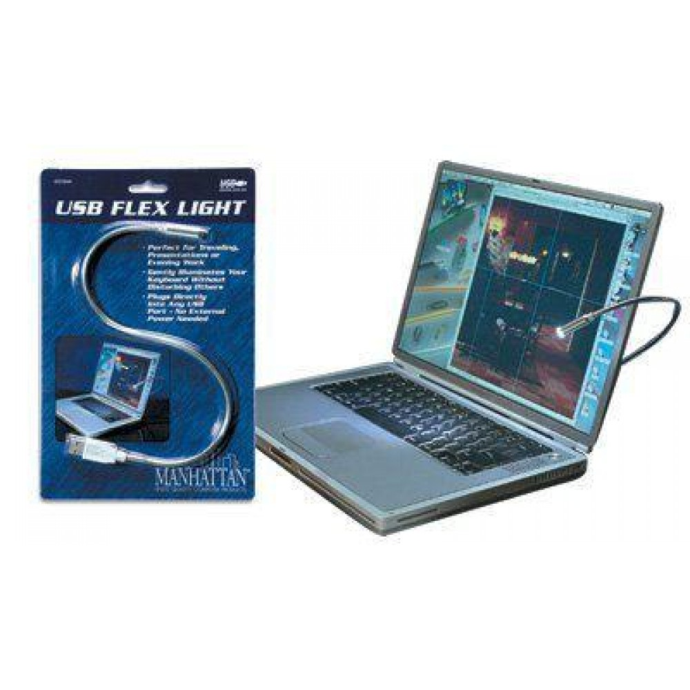 Lampada flessibile USB, luce led - Manhattan - IUSB-LIGHT