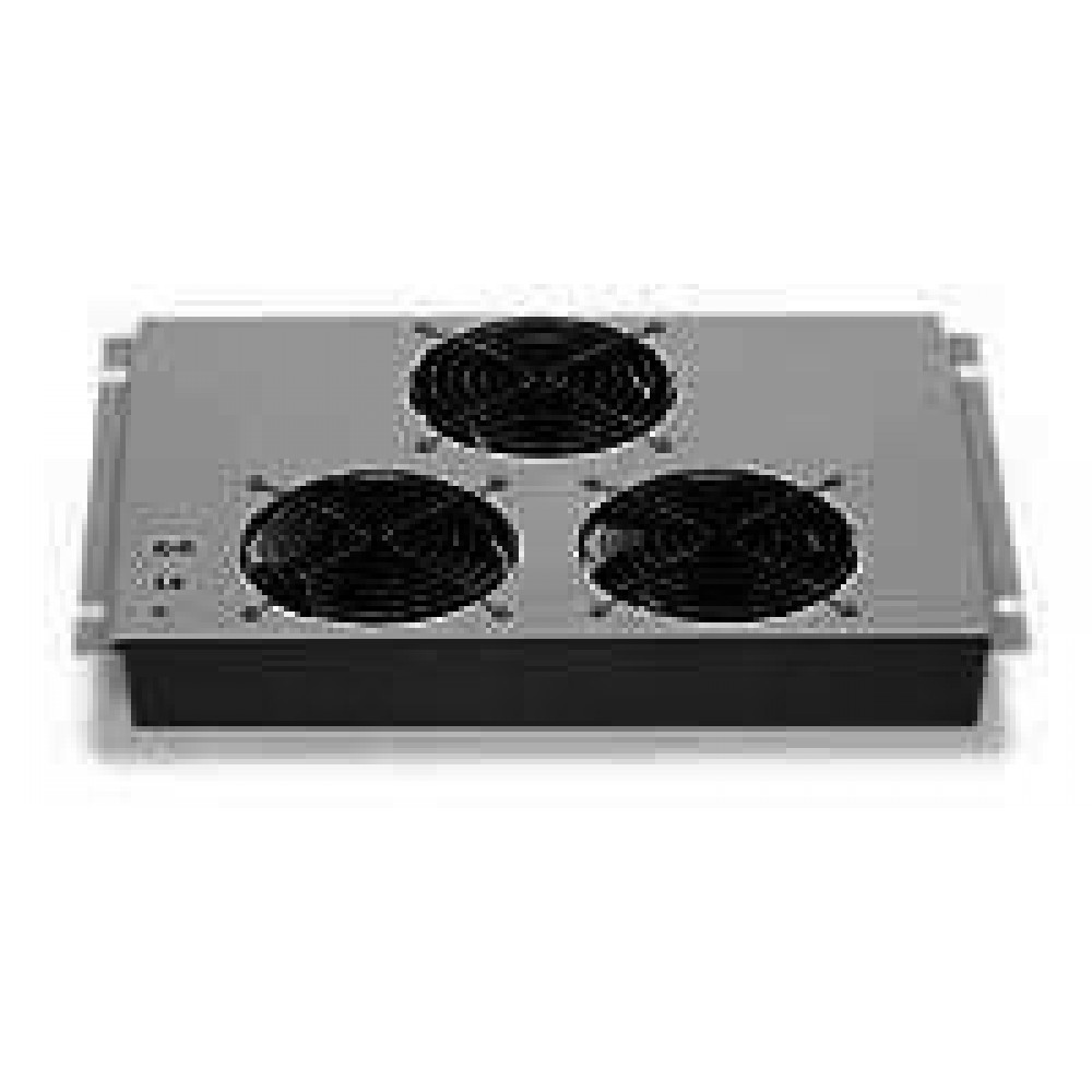 Gruppo 3 Ventole Soffitto con Termostato per Armadi Rack - Intellinet - I-CASE FAN-10-1