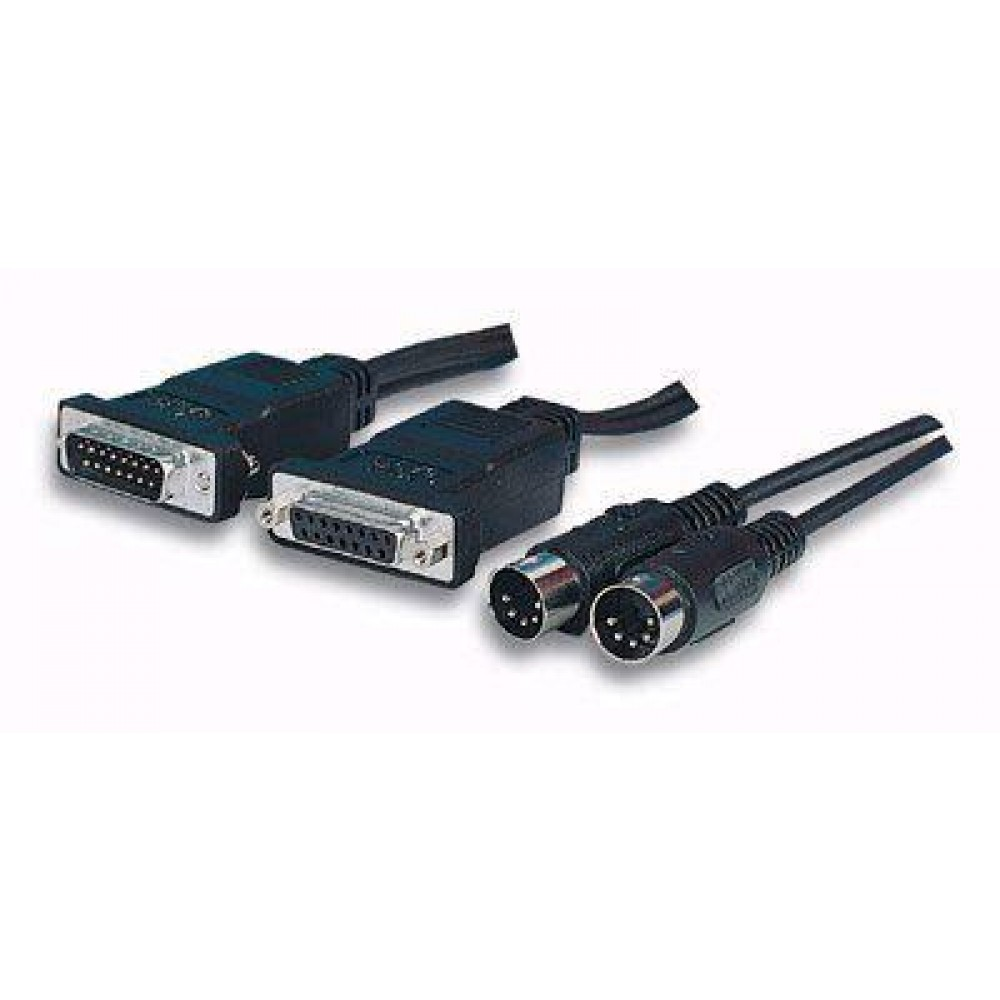 Cavo interfacia MIDI per Sound Blaster 2xDB15 2xDIN 5 pin - Manhattan - ICOC 18-CU-1