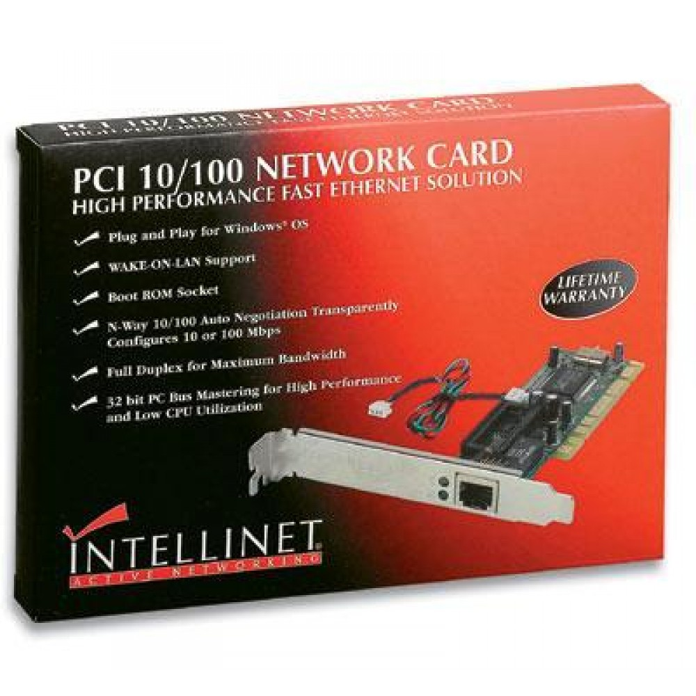 Scheda 10/100 Mbps WAKE ON LAN Realtec chipset NE 2000 - Intellinet - ICC IO42-WO-1
