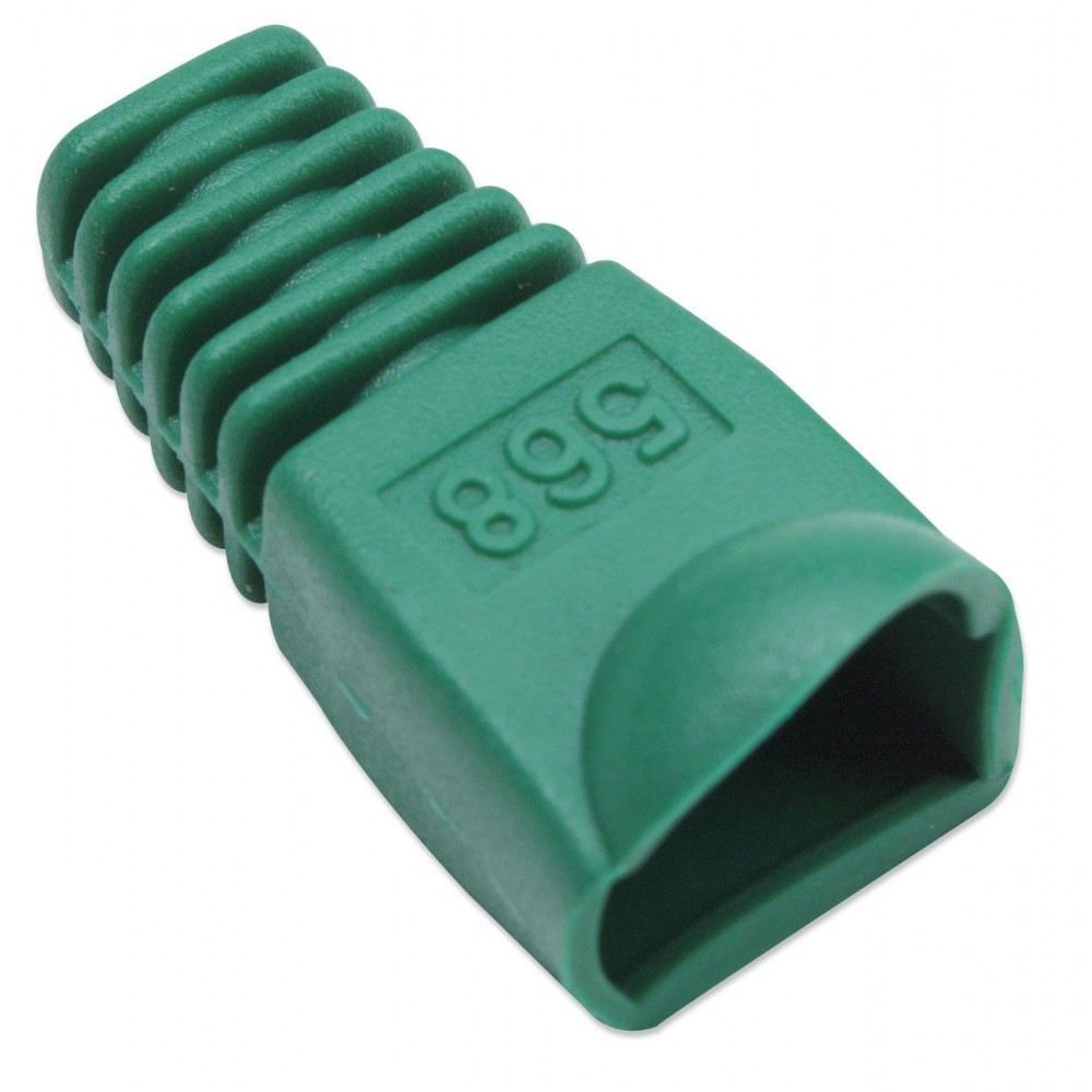Copriconnettore per Plug RJ45 6.2mm Verde - Intellinet - IWP-CBOOT-VE-1