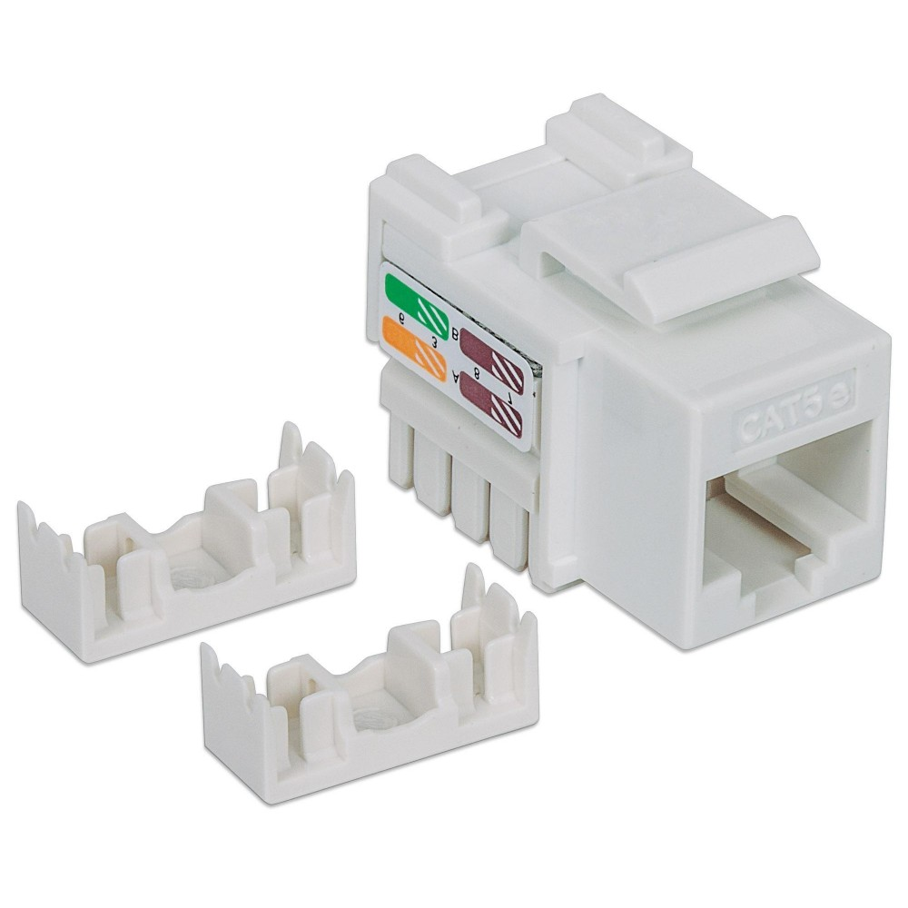 Frutto Keystone RJ45 Cat5e UTP Bianco - Intellinet - IWP-MD C5E/WH-1