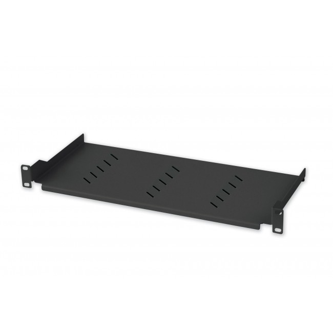 Mensola per Rack 19'' 150 mm 1U Nero 2 punti - Techly Professional - I-CASE TRAY-150BK-1