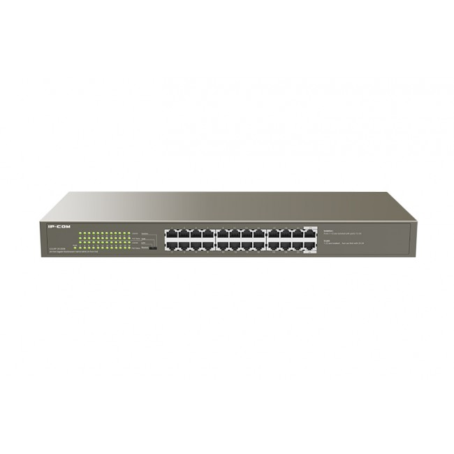 Switch 24 Porte Gigabit Desktop/Rack con 24 porte PoE+ - IP-COM - ICIP-G1124P-24-1