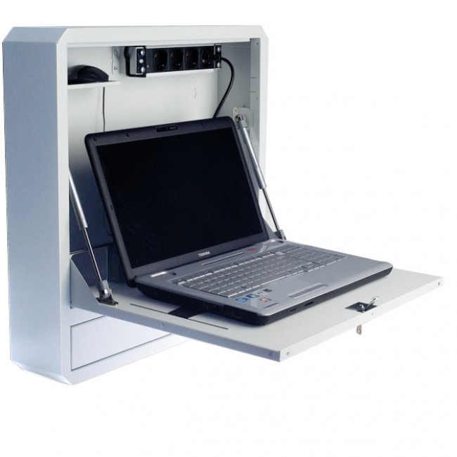 Box di Sicurezza per Notebook e Accessori per LIM Prof. 127 Bianco - Techly Professional - ICRLIM01W2-1