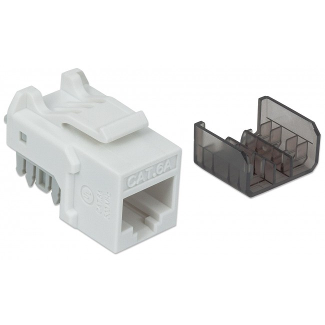 Frutto Keystone RJ45 Cat6A UTP 10 Gigabit Bianco - Intellinet - IWP-MD C6A/WH-1