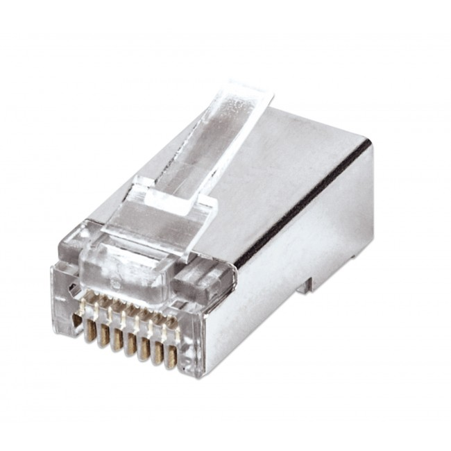 Confezione 50 plug modulari RJ45 Cat5e FastCrimp - Intellinet - IWP-CAT5ES-1