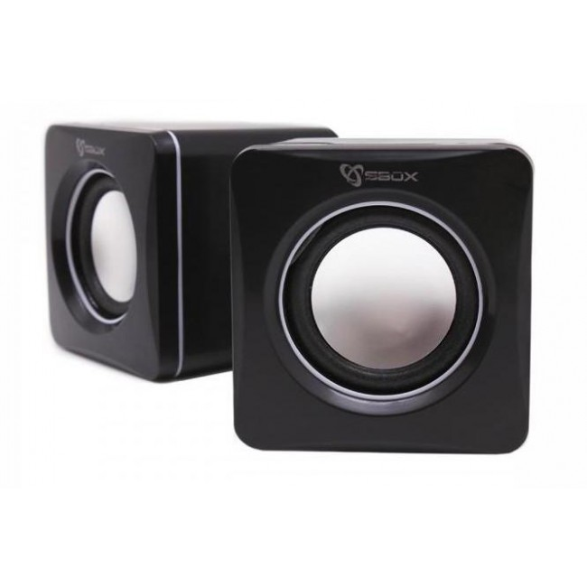 Speakers USB SP-02 Nero - Sbox - ICSB-SP02-1
