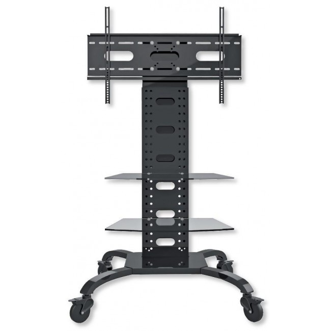 """Supporto a Pavimento con 2 Mensole Trolley TV LCD/LED/Plasma 32-70"""" - Techly - ICA-TR8-1"""
