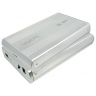 "Box HDD Esterno SATA 3.5"" USB3.0 Super Speed Silver - Logilink - I-CASE SU3-35SL"