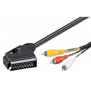 Cavo Audio video Scart RCA 2 Mt IN/Out - Goobay - ICOC SCART-3RGB