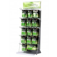 Espositore Stand da Banco per Batterie 80cm - Techly - I-TLY-BATTERY2