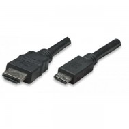 Cavo High Speed Mini HDMI a HDMI Maschio/Maschio Nero, 5,0 m - Techly - ICOC HDMI-B-050