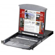 "Switch KVM Cat.5E/6 Over IP a 8 porte con LCD 19"" Dual Rail, KL1508AIN - Aten - IDATA KL-1508AIN"