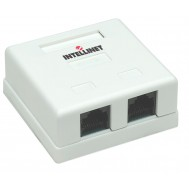 Presa a Muro con 2 Frutti RJ45 Cat. 5E UTP Beige - Intellinet - IWP-MD SC-2FT
