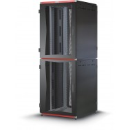 "Armadio Server Rack 19"" 600x1000 2x20 Unita' Nero serie MultiSPACE - Techly Professional - I-CASE EU-22061BK"