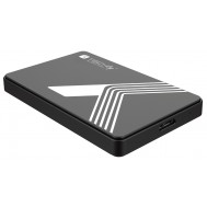 "Box Esterno USB3.0 per HDD/SSD SATA 2,5"" Nero - Techly - I-CASE USB3-SL25TY"