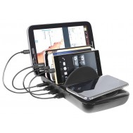 Docking Station USB 5 posti con Caricabatterie Wireless Removibile - Fontastic - I-CHARGE-4P-WRC