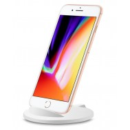 Caricabatterie Wireless Qi Stand Stondato 5W Bianco - Techly - I-CHARGE-WRM-5W