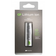 Blister 1 Batteria Ricaricabile Ioni di Litio 18650 2600 mAh 26FP - Gp Batteries - IC-GP205000