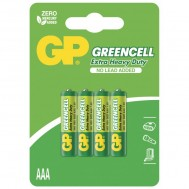 Blister 4 Batterie Greencell Zinco/Carbone MiniStilo AAA R03 - Gp Batteries - IC-GP5519