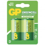 Blister 2 Batteria Greencell Zinco/Carbone Torcia D R20 - Gp Batteries - IC-GP5561