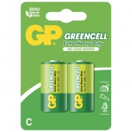 Blister 2 Batteria Greencell Zinco/Carbone Mezza Torcia C R14 - Gp Batteries - IC-GP5563