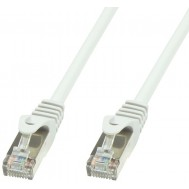 Cavo di rete Patch in rame Cat.6 Bianco SFTP LSZH 0,5m - Techly Professional - ICOC LS6-005-WHT
