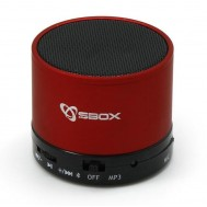 Speaker Portatile Bluetooth Wireless Rosso - Sbox - ICSB-BT160RE
