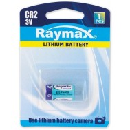 Batterie al Litio per Fotocamere Batteria al Litio 3V CR2 - Raymax Batteries - IBT-KCR2-3V