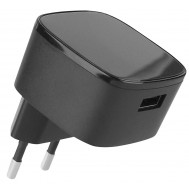 Caricatore USB 1.67A Quick Charge2 Spina Europea 2pin Nero - Fontastic - IPW-USB-QC2BF
