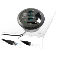 Hub USB 3.0 3 porte + 2 slot SD In-Desk Diametro 6 cm - Delock - IUSB3-HUB60SDE